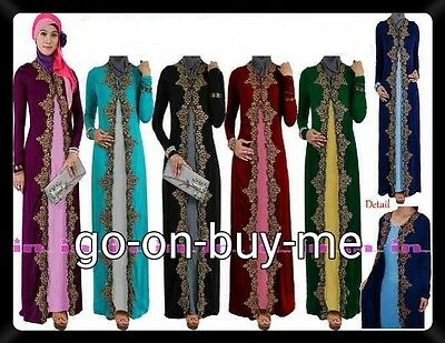 New Ladies Abaya Jilbab Kaftan Long Maxi Dress