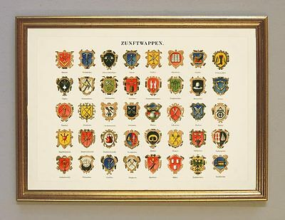 Coat of Arms Pottery Fischer Locksmith Butcher Kxz Facsimile Publisher 40 in The