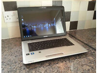 "TOSHIBA L450D LAPTOP 15.6"", AMD 2.10GHz, 3GB, 160GB, WIFI, HDMI, WEBCAM, DVD, OFFICE, ANTI-VIRUS, W7"