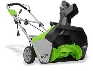 Greenworks Electric Snow thrower/blower, BRAND NEW IN BOX