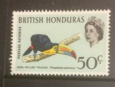 BRITISH HONDURAS 1962 BIRDS SG210 MH