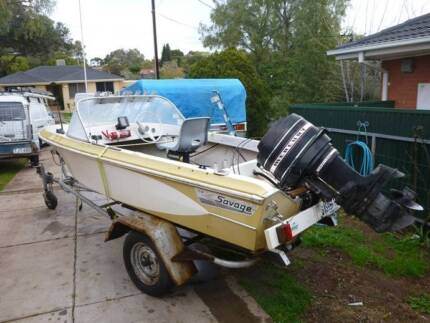 Savage 13ft  Fishing boat - Bargain urgent sale ready to go Para Vista Salisbury Area Preview