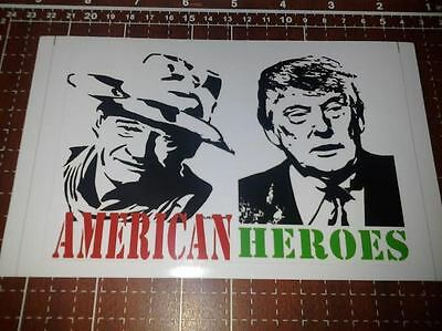 Donald Trump, John Wayne, Hero bumper sticker vinyl window bumper..