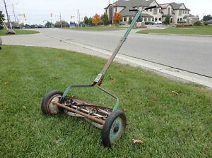 Vintage Great American Late 1940's Reel Push Mower -Still Works