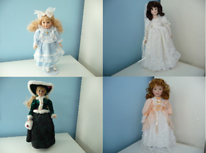 Porcelain Doll With Stand And Original Box - 4 To Choose From