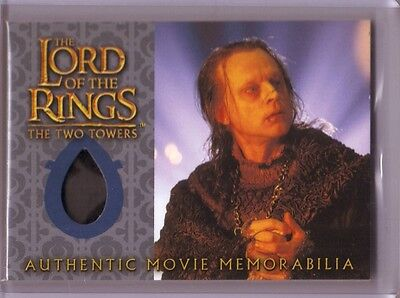 LOTR TTT Lord Of The Rings Wormtongue's Velvet Underfrock costume swatch card