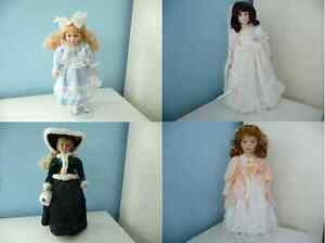 Porcelain Doll With Stand And Original Box - 4 To Choose From London Ontario image 1