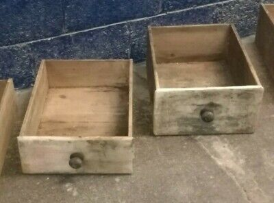 Antique ~Vintage ~ Solid Pine ~Drawers x 2 ~Drawers Only~ Shelving/ Display Box