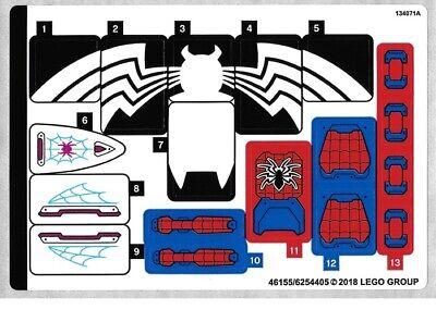 NEW LEGO Sticker Sheet for Set 76115 - (46155/6254405)
