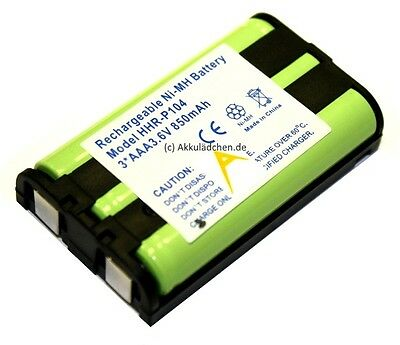 Akku für Telefone Panasonic Typ HHR-P104A Ni-MH 3,6V 850mAh Accu Batterie NIMH (Panasonic Akku 3 Telefon)