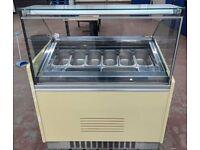 10 Pan Gelato Ice Cream Display Freezer