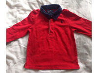Boys Red Ralph Lauren Long sleeved Polo top t shirt age 12m