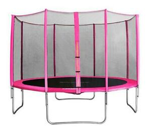 PINK TRAMPOLINE - FREE SHIPPING ALL OVER CANADA ON MAY 21 - BRAND NEW TRAMPOLINE with safety net