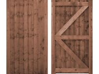 wooden gates and sheds and climbing frames