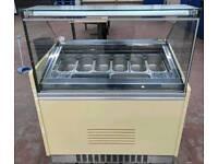 10 pot gelato ice cream display freezer