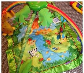 Rainforest play mat with lights and sounds