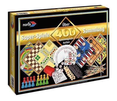 Noris 600002566 - Spielesammlung mit 400 Spielmöglichkeiten (Familienspiele, Brettspiele)