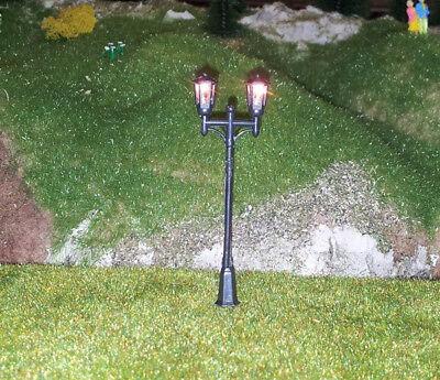 5 Stückneue Modellbaulampen 2-flammig, einzeln ansteuerbar, H0, (RM112)