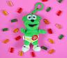 5.5″ Singing Gummibär (The Gummy Bear) Clip On Plush Toy