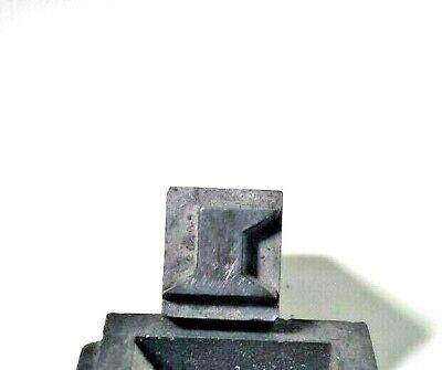 Antique Letterpress Print Block Lead Number 1 Stamp Character Type Set