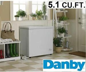 NEW DANBY CHEST FREEZER 5.1 CU.FT. WHITE  Home Appliances Freezers KITCHEN APPLIANCE FOOD STORAGE 102447060