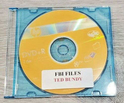 TED BUNDY SERIAL KILLER, FBI FILES FROM FBI HEADQUARTERS W/ 310 PAGES ON NEW CD
