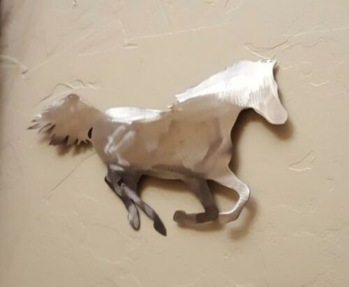 Mustang Horse Raw Metal Country Western wall art