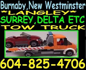 JAYS TOWING(604)825-4706*FLAT RATE TOW TRUCK*BURNABY-CHILLIWACK