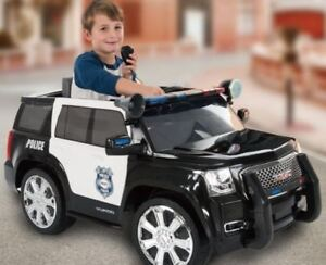 For sale; GMC 6V Kids Police Car Ride On from Mr Toys