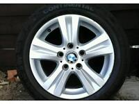 Bmw alloy wheels and tyres..1 and 3 series