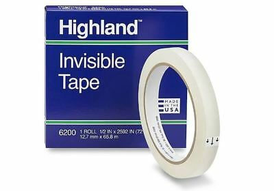 Highland Invisible Tape 6200 12 X 2592 Inches 72 Yds 3 Inch Core