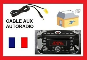 cable auxiliaire pour brancher ipod ipad iphone autoradio fiat punto evo 2010 ebay. Black Bedroom Furniture Sets. Home Design Ideas