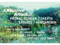 2 Massive Attack tickets in Bristol for sale