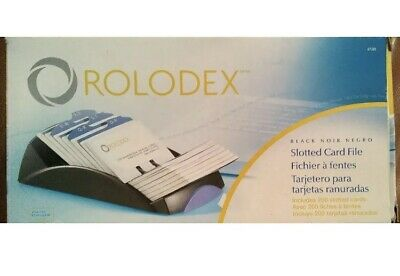 New Unused Rolodex 67261 Business Card File W200 Cards A-z Index Tabs