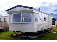 6 Berth static caravan on Par Sands Holiday Park. Current availability. Dogs welcome.