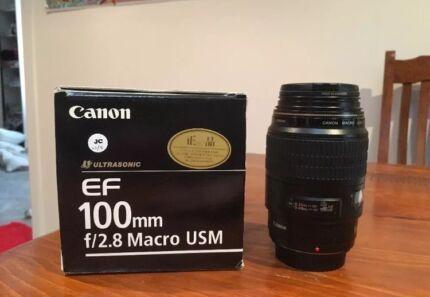 Canon 100 mm f2.8 USM macro lens