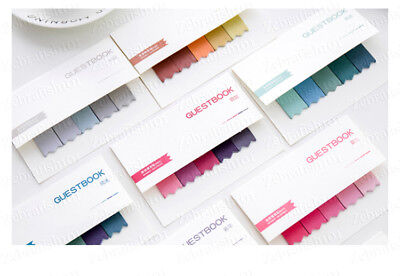 5 Color 100-page Bookmark Sticky Notes Sticker Marker Memo Flags Pastel