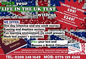 LIFE IN THE UK PREPARATION - PASS YOUR TEST NOW!!