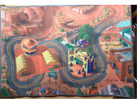 Disney cars radiator springs lightning mcqueen playmat