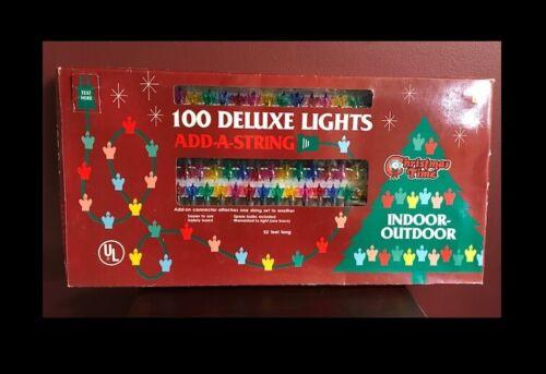Vintage Christmas Time 100 Petal Lights Multicolor Add-a-String New Original Box