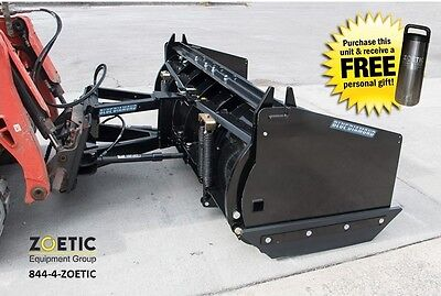 Blue Diamond Trip Edge Blade Quick Attach Snow Pusher Skid Steer Attachment