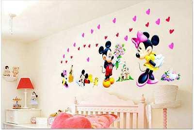 Wandsticker Mickey Maus Wandtattoo Disney XXL Kinderzimmer Minnie Mouse micky 1