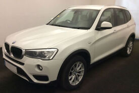 White BMW X3 2.0TD 4X4 2014 xDrive20d SE FROM £72 PER WEEK!