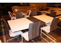 ROMAN CONRAD COLLECTION STYLISH DESIGNER DINING TABLE WITH 8 CHAIR