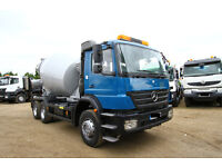 2007 MERCEDES AXOR 2633 6X4 CONCRETE MIXER TRUCK FOR SALE IN AFRICA LONDON SCOTLAND IRLEAND TIPPER