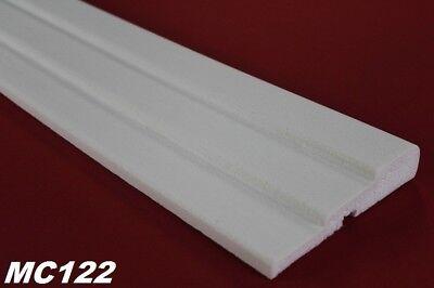 2 Meter Fassadenprofil Außen Dekor Leiste stoßfest 145x30mm, MC122