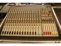 Allen and Heath GL2400 16 channel mixing desk with flight case