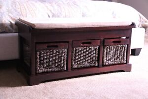 Solid Wood Bench with Storage | NEW LOWER PRICE!