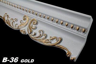 20 Meter Dekorleisten Eckprofile Dekor Innen Decke 58x135mm, B-36 GOLD