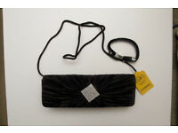 black elegant clutch bag with zircons , PARTY , great as a GIFT, BNWT